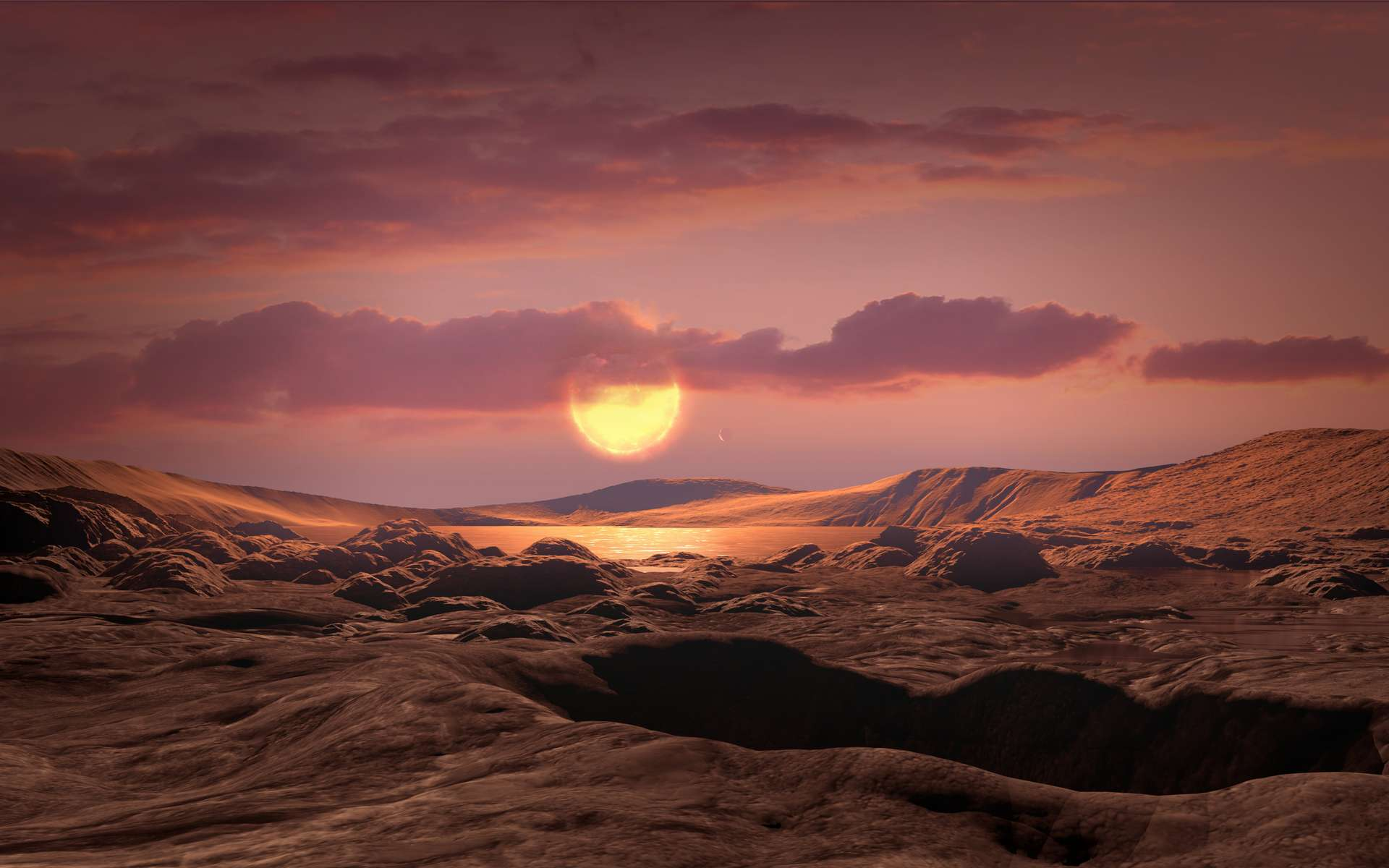 Illustration de la surface de Kepler-1649 c. © Nasa, Ames Research Center, Daniel Rutter