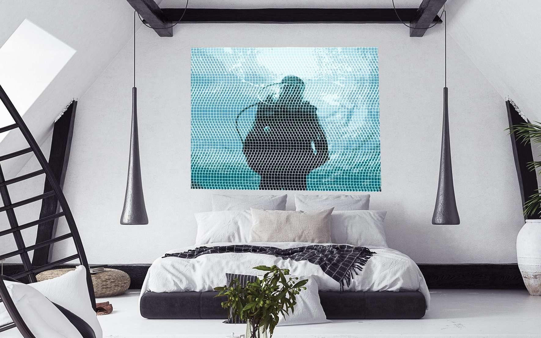 Transformer une photo en mosaïque murale permet de profiter d'une décoration unique pour habiller une chambre, un bureau ou une salle de bains. © Fred Burguière, Magic Mosaic