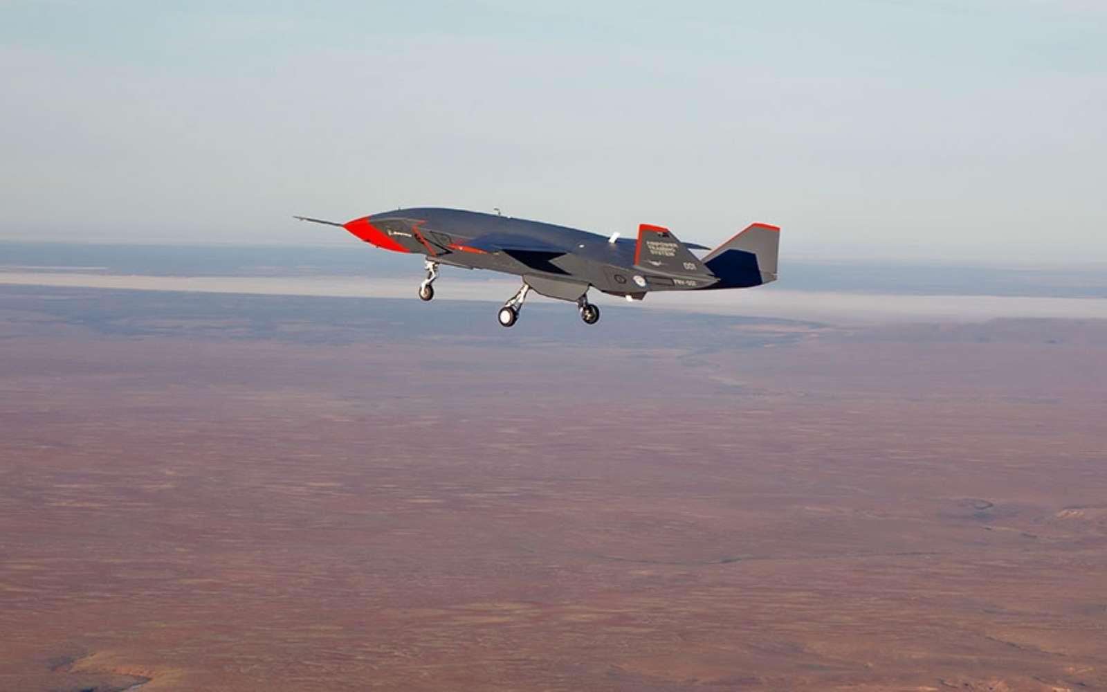 Avec son profil d'avion de chasse moderne, le Loyal Wingman dispose d'une autonomie importante pour aller plus loin que les avions de combat actuels. © RAAF