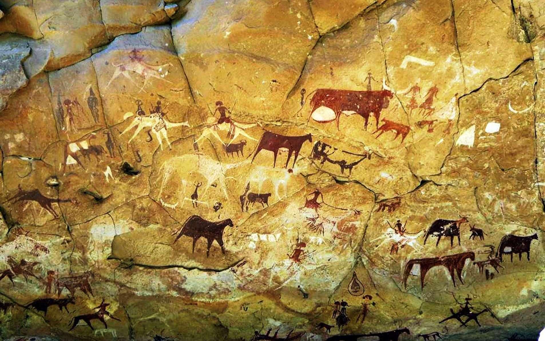Des gravures rupestres datant de l'époque du Sahara vert au Tchad. © David Stanley, cc by sa 2.0, Wikipédia