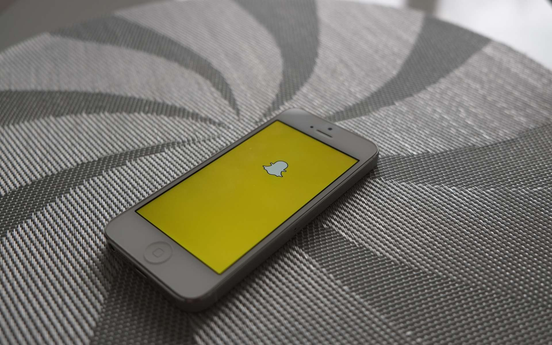 L'application Snapchat offre la possibilité de revoir un snap. © AdamPrzezdziek, Flickr, CC by-sa 2.0
