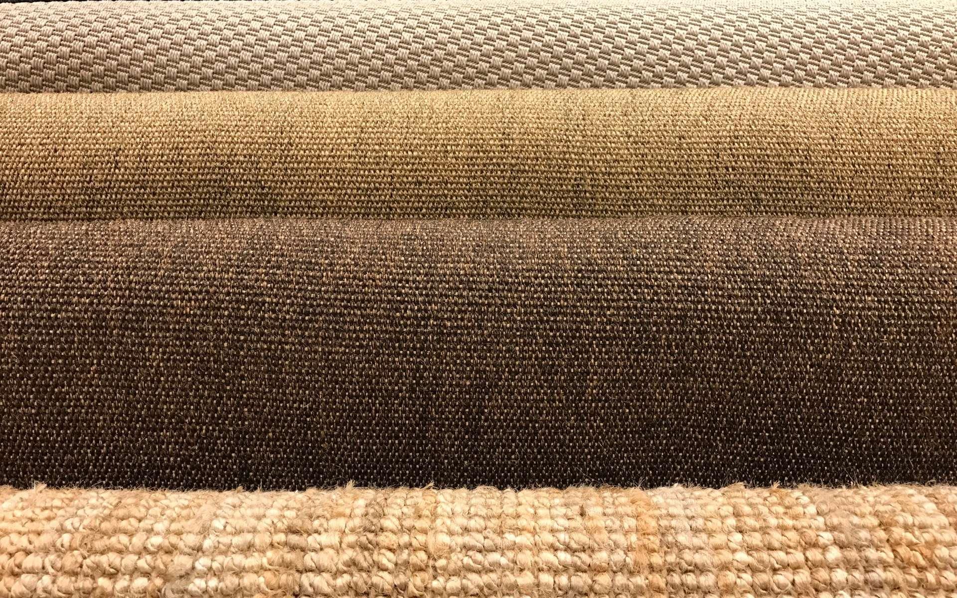 Sisal, jonc de mer, fibres de coco, des revêtements en fibres naturelles. © ubonwanu, Adobe Stock