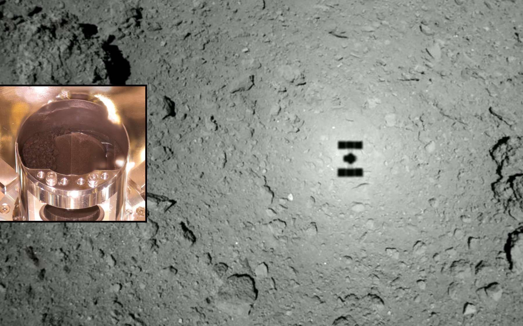 Les échantillons de Ryugu rapportés sur Terre par la sonde japonaise Hayabusa-2. © Jaxa