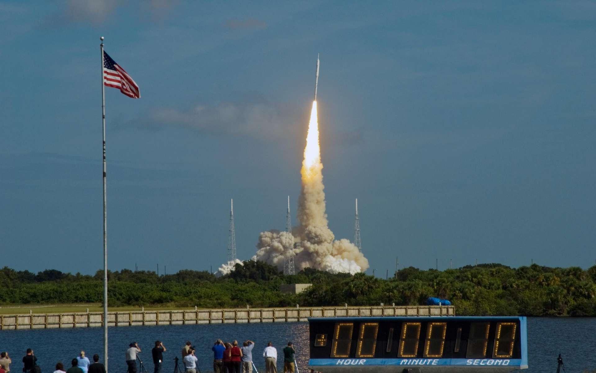 La fusée Ares 1-X vient de décoller vers un avenir incertain... © Nasa