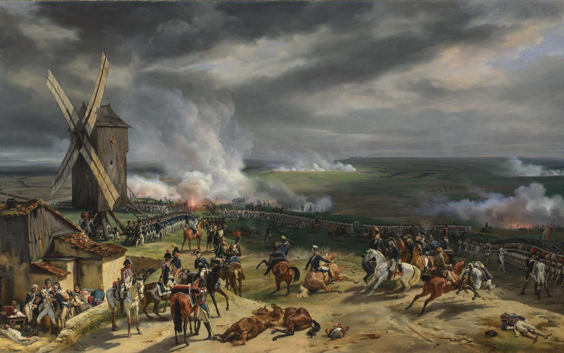 La bataille de Valmy, le 20 septembre 1792. © Peinture d'Horace Vernet, Wikimedia Commons, DP