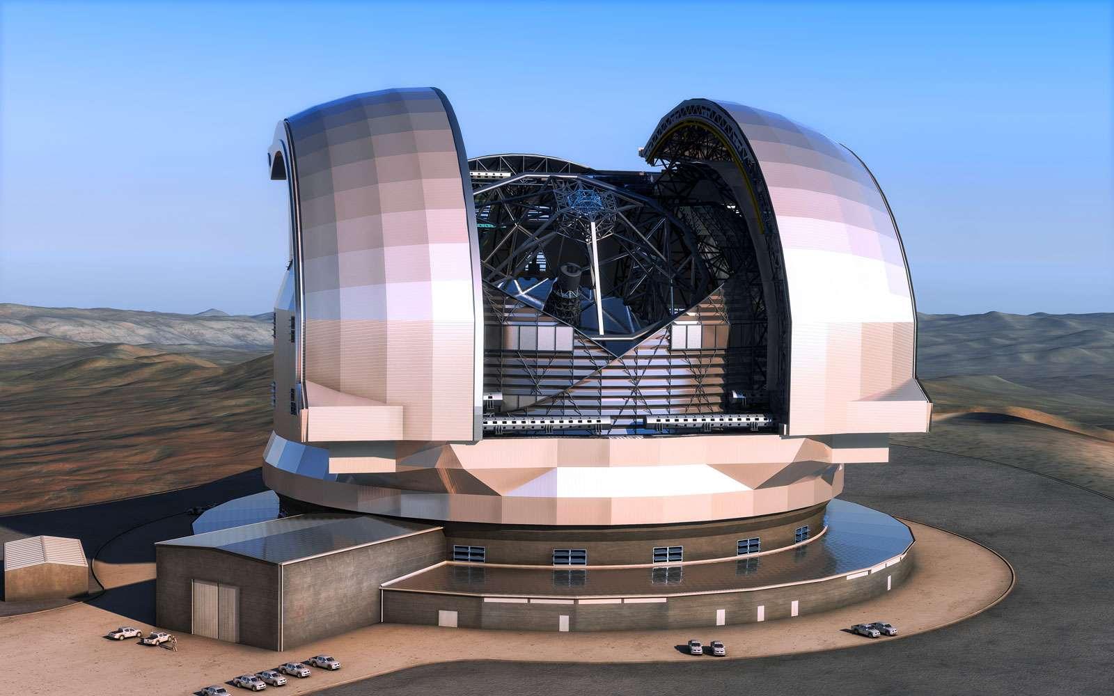 Après l'interférométrie au VLT, les 66 antennes d'Alma et en attendant l'E-ELT, l'Europe se donne les moyens de jouer un rôle de leader dans l'astronomie au sol, au cours de ces prochaines décennies. © ESO, L. Calçada