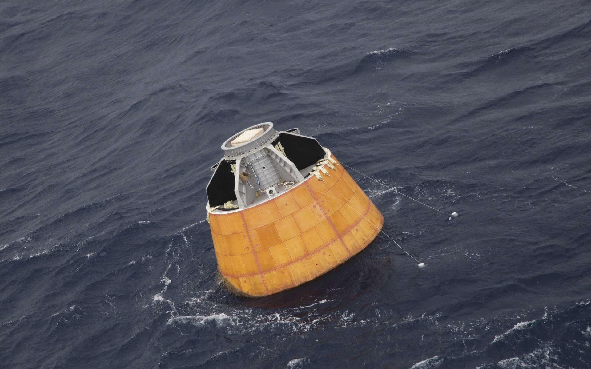 Démonstrateur indien de capsule habitable pour un équipage de trois personnes. © Isro