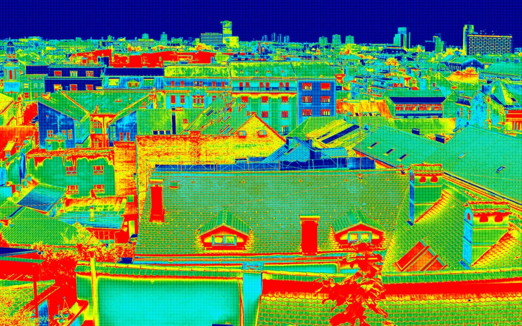 Un îlot de chaleur urbain correspond à une sorte de microclimat pour lequel les températures sont significativement plus élevées. © smuki, Fotolia