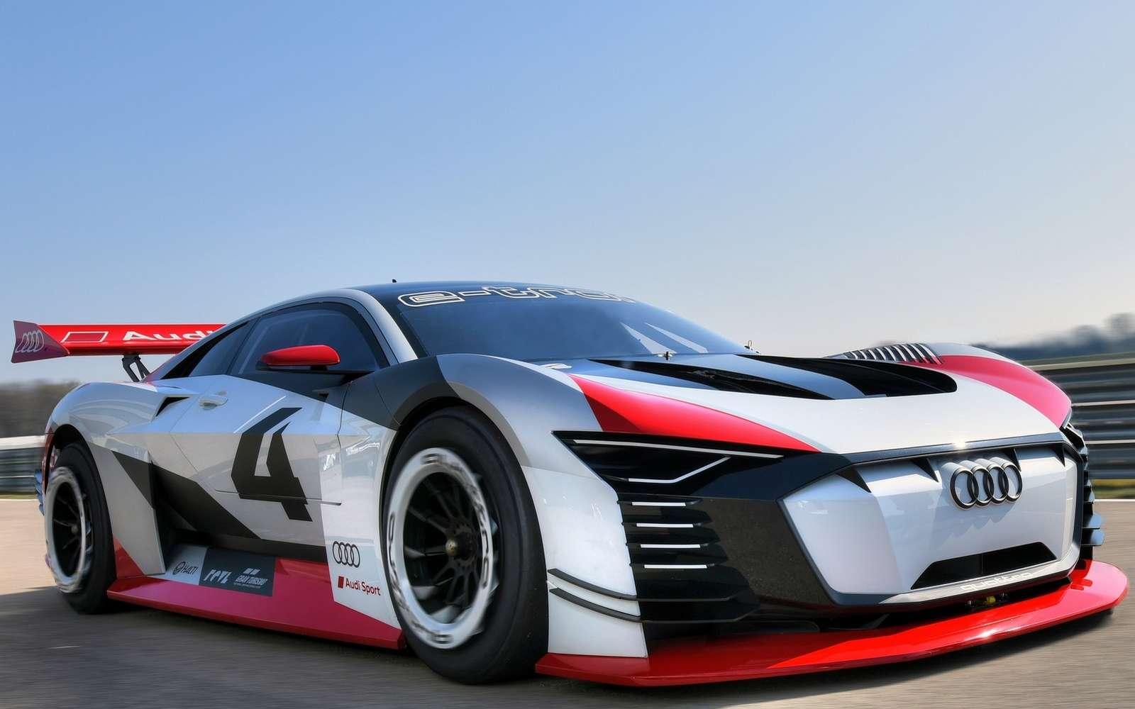 Le concept de supercar électrique Audi e-tron Vision Gran Turismo. © Audi