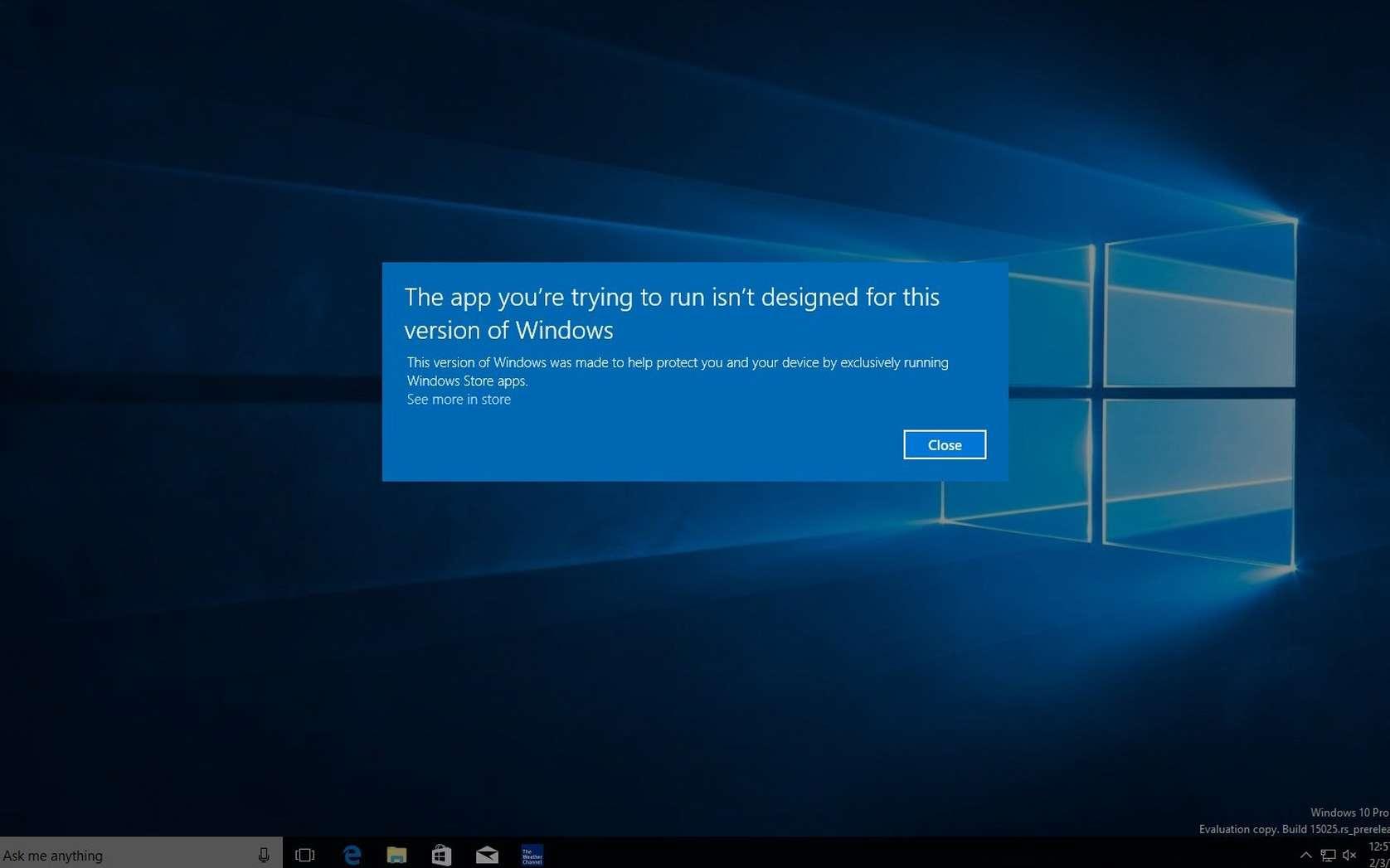 Voici un aperçu de Windows 10 Cloud, la supposée déclinaison du système d'exploitation de Microsoft. L'aspect et le fonctionnement sont identiques à l'OS actuel. Seule différence, la possibilité de n'installer que des applications issues du magasin en ligne Windows Store. © Thurrott