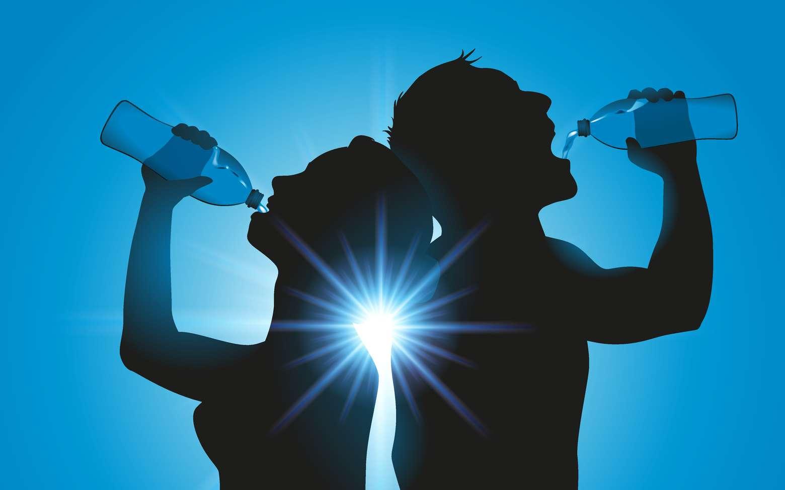 Il faut boire au minimum un litre d'eau par jour, et plus en cas de fortes chaleurs. © pict rider, Fotolia