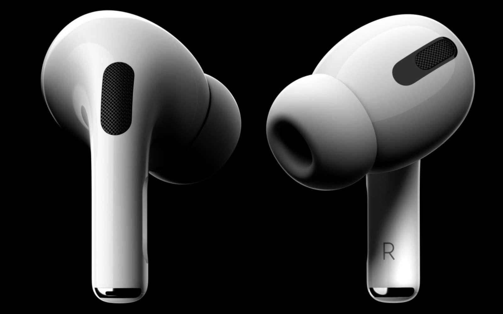 Pour proposer une réduction du bruit active, Apple est obligé de proposer des embouts. © Apple