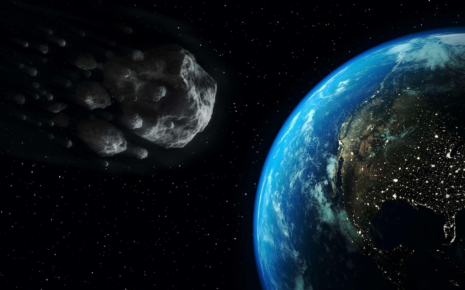 L'aastéroïde 2018 VP1 est de retour près de la Terre, deux après sa découverte. Va-t-il entrer en collision avec la Terre le 2 novembre, la veille des élections présidentielles américaines ? © Marcos Silva, Adobe Stock