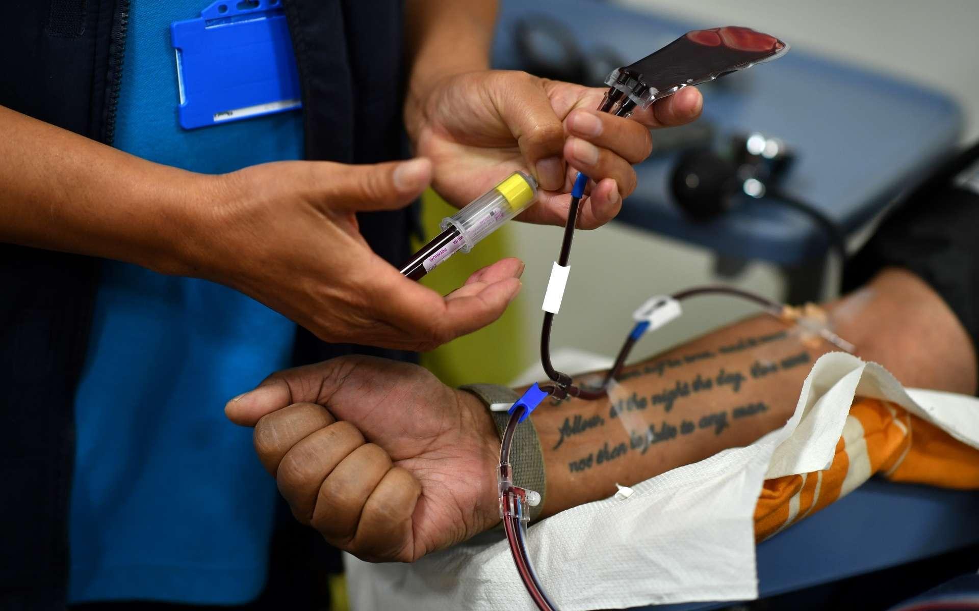 Ce qu'il faut savoir sur le traitement du Covid-19 grâce au plasma. © Ben Stansall, AFP