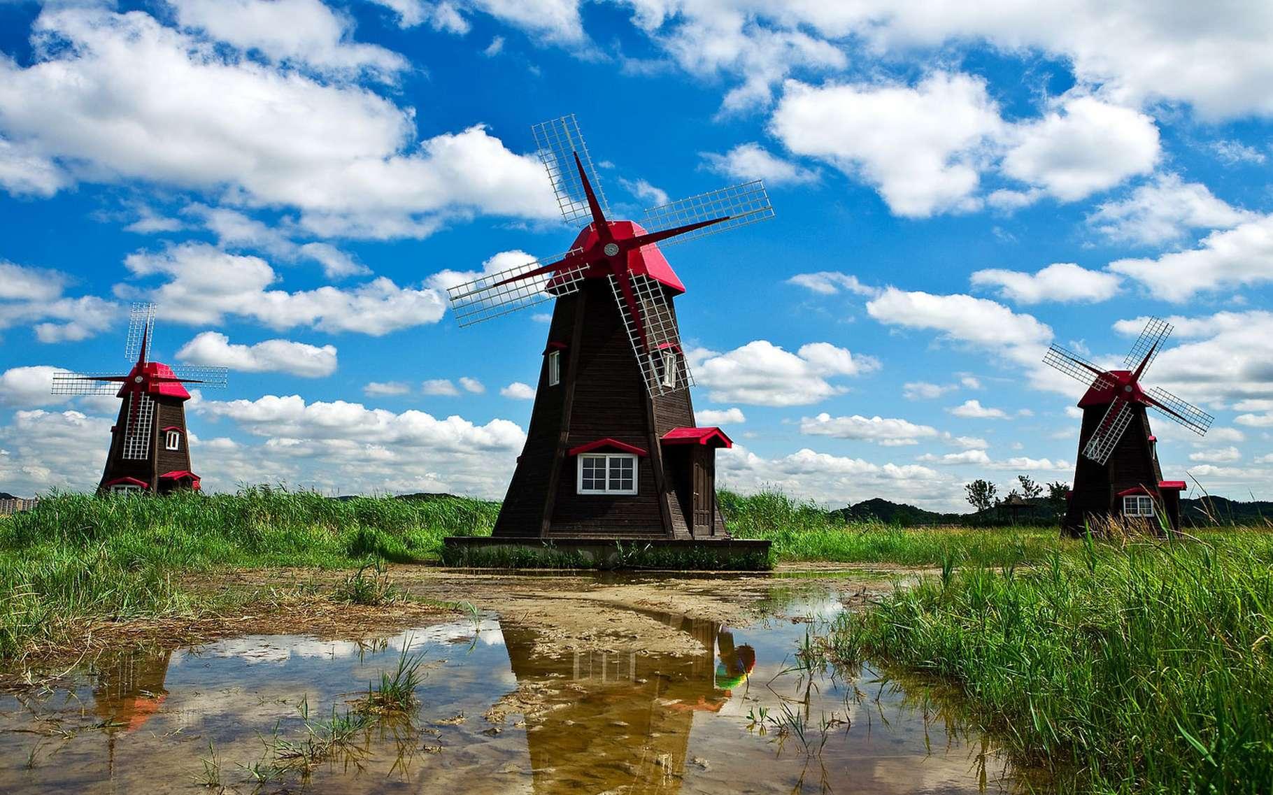 Loin d'être démodés, les moulins à vent ont encore une valeur esthétique et culturelle. © Usagi_Post CC0