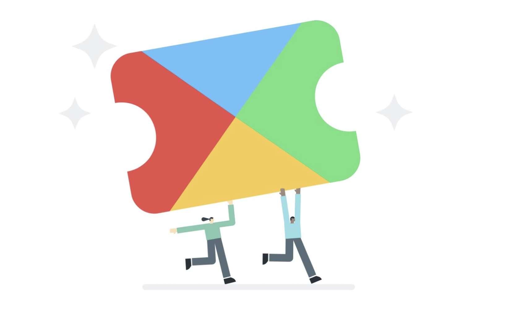 Les jeux inclus dans l'abonnement seront signalés par une petite icône dans le Play Store. © Google