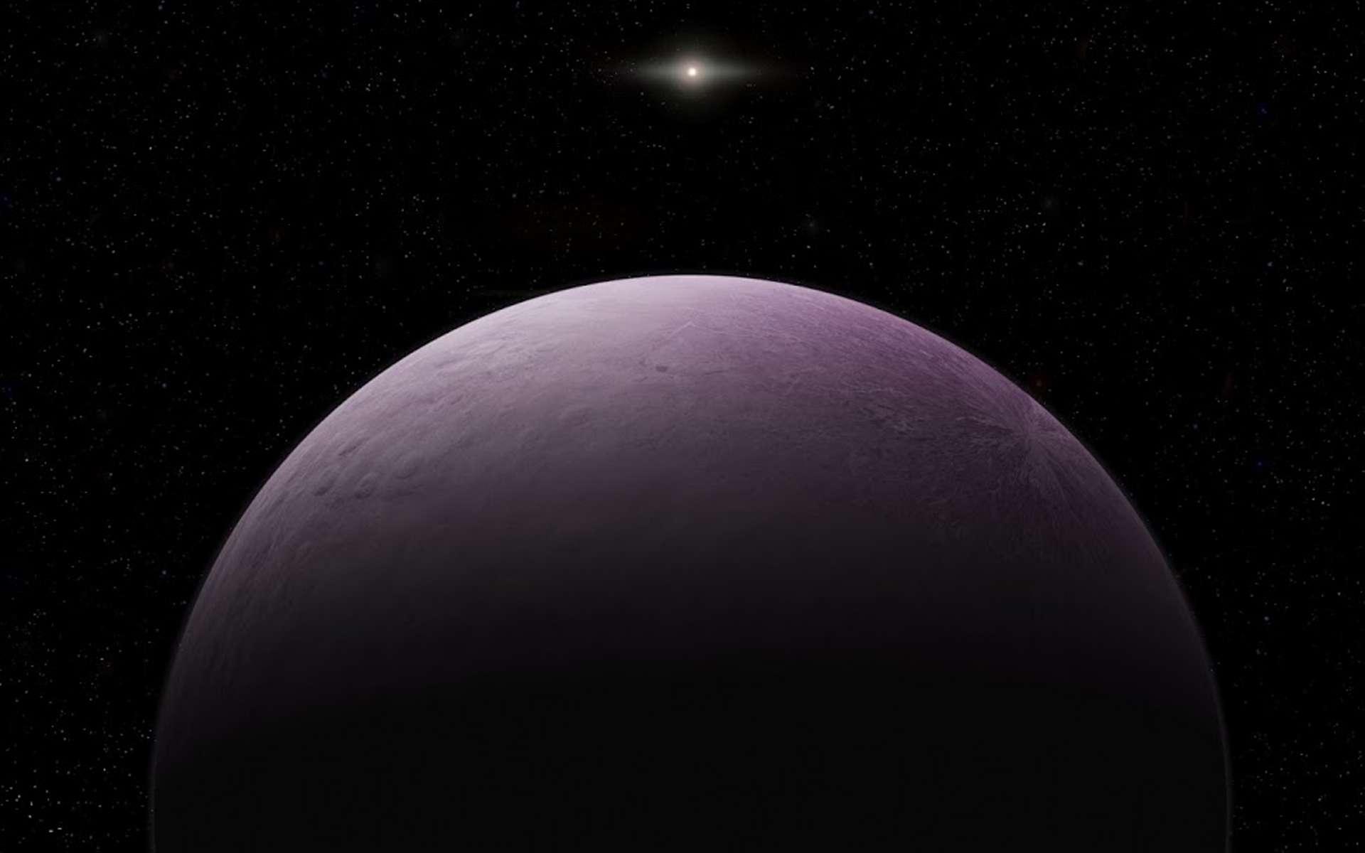 Illustration de « Farout », l'objet le plus lointain jamais observé dans le Système solaire. © Roberto Molar Candanosa, Carnegie Institution for Science