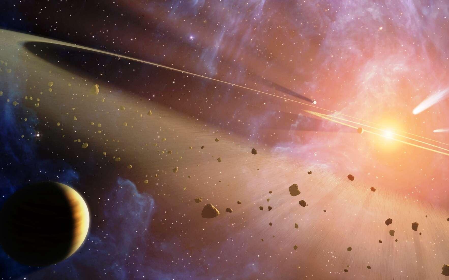 Une vue d'artiste de la naissance du Système solaire. © Nasa, JPL-Caltech, T. Pyle, SSC