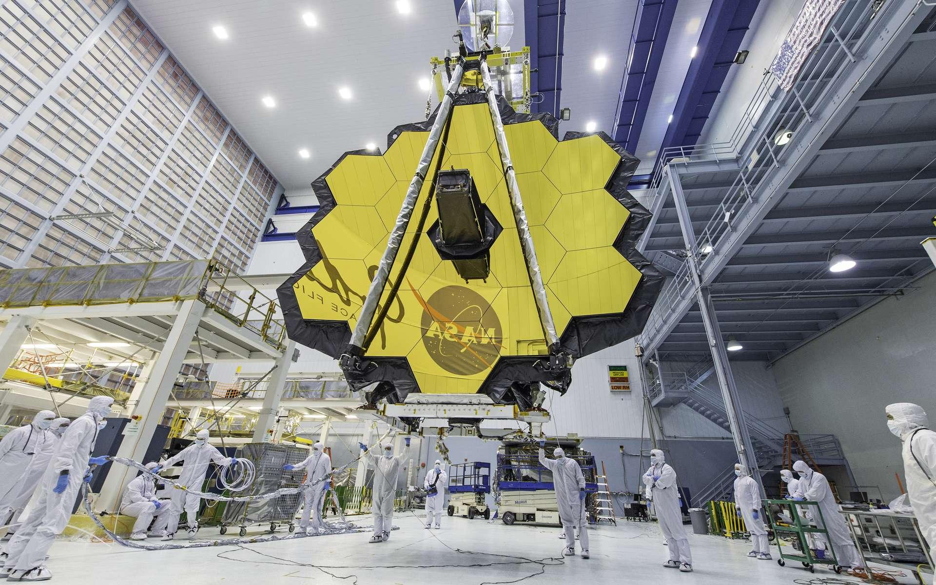 Le miroir du James Webb Space Telescope. © Desiree Stover, Nasa