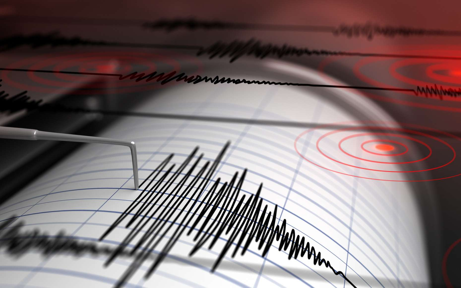 Le noyau de la Terre serait responsable de séismes majeurs. Il est possible d'étudier les séismes avec des sismogrammes enregistrés par des sismomètres. © Petrovich12, Fotolia