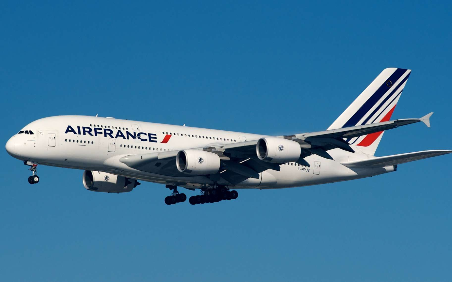 Un Airbus A380 d'Air France. © BriYYZ, Flickr, Licence Creative Commons (by-nc-sa 2.0)