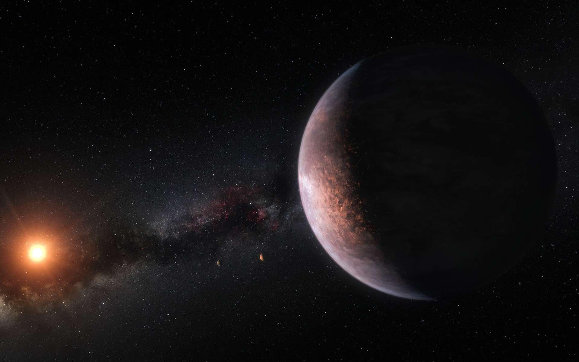Vue d'artiste d'une exoplanète autour de Trappist-1. © ESO / M. Kornmesser