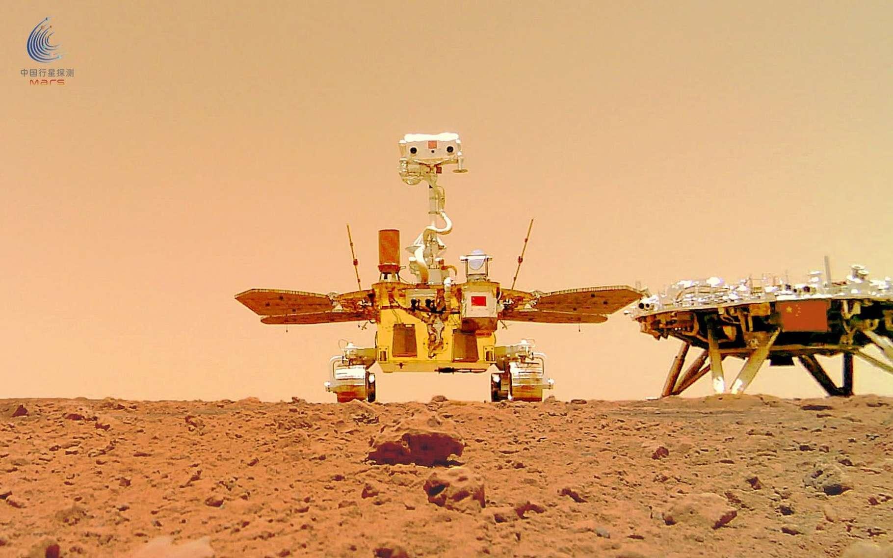Depuis son atterrissage sur Mars en mai dernier, Zhurong, le rover chinois, a déjà renvoyé quelques images étonnantes. Cette fois, ce sont ses premiers sons qui sont publiés par l'Administration spatiale nationale chinoise (CNSA). © Administration spatiale nationale chinoise
