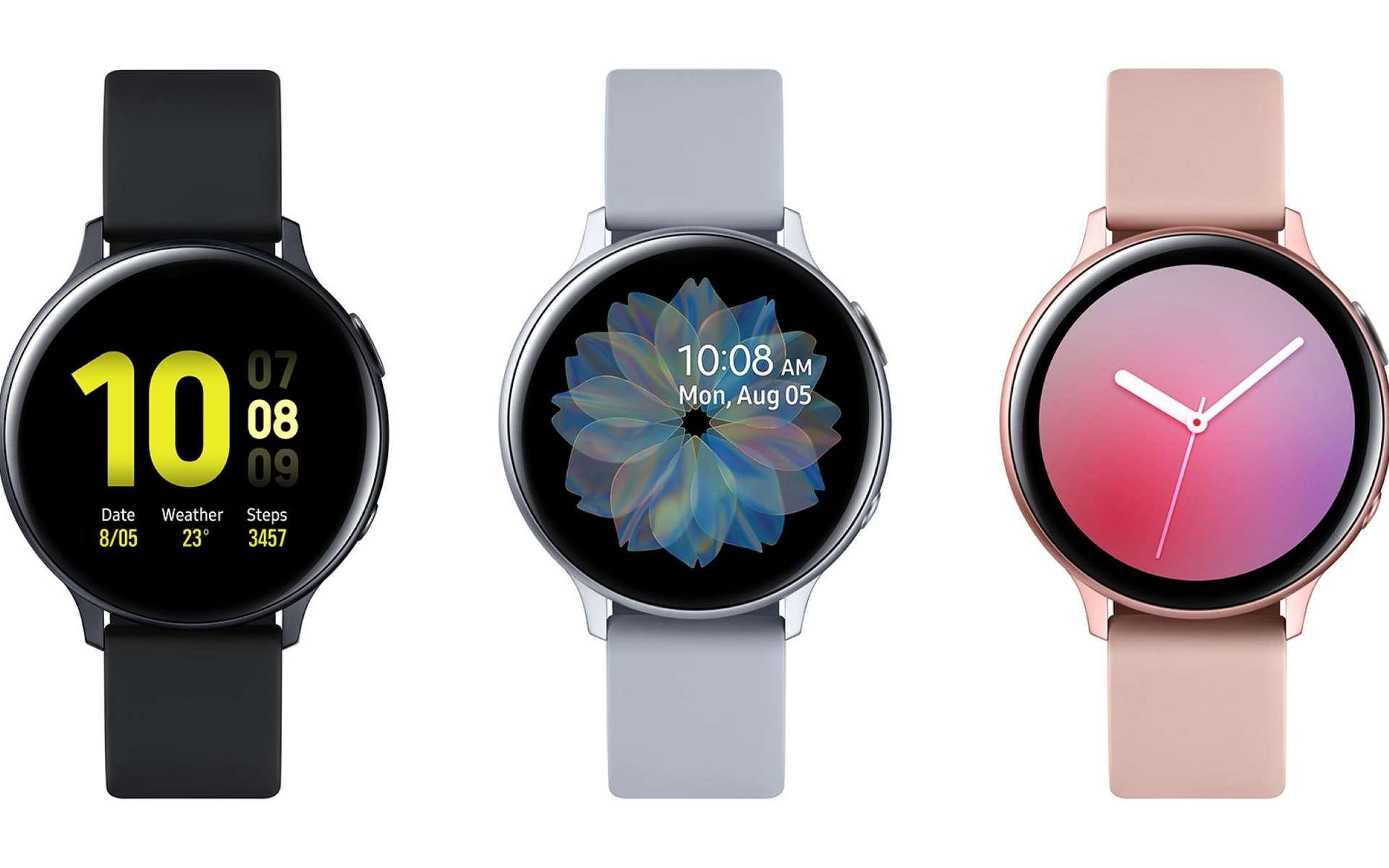 Tactile, la bague autour du cadran de la Galaxy Watch Active 2 est rotative pour permettre de naviguer dans les menus. © Samsung