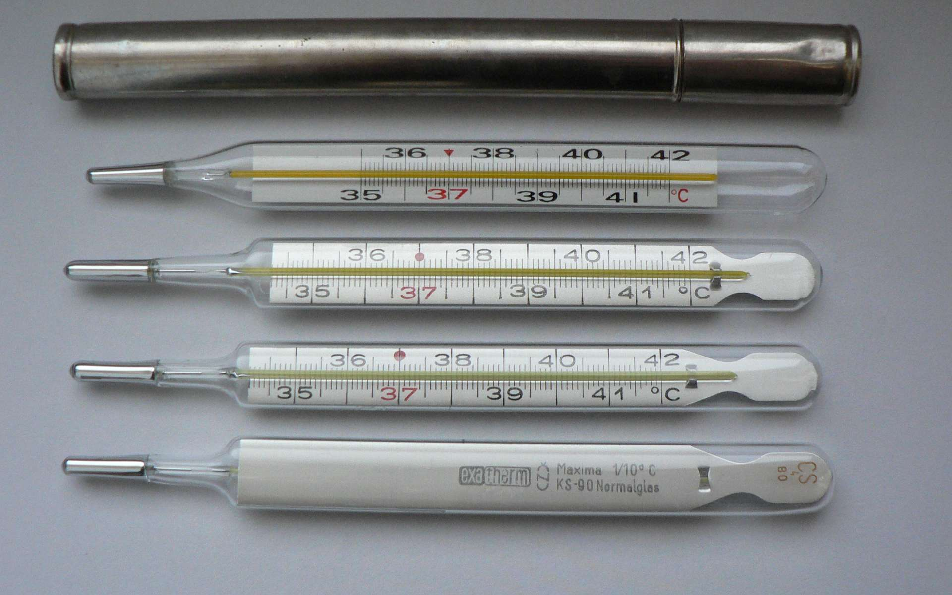 Daniel Gabriel Fahrenheit met au point le thermomètre à mercure, un système de mesure de la température. © Zwager, Domaine public, Wikimedia Commons