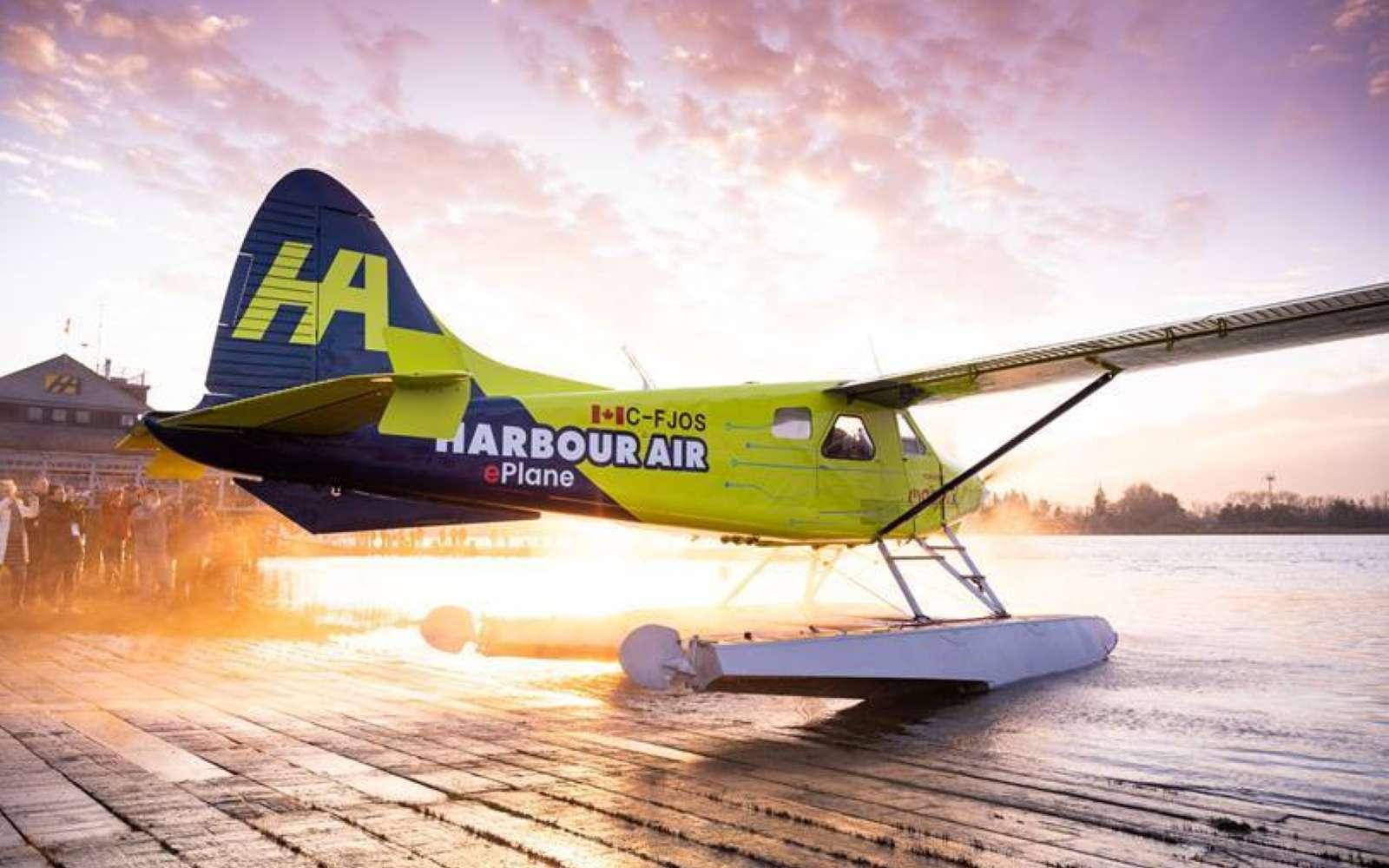 Le premier vol 100 % électrique a été réalisé par Harbour Air à partir d'un de Havilland Canada DHC-2 de conception ancienne, dont la motorisation thermique a été remplacée. © Harbour Air