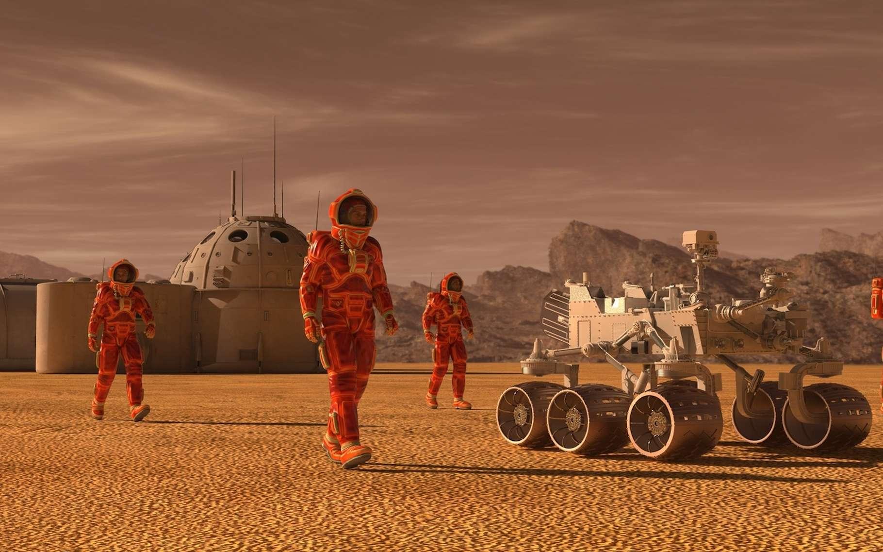 Des chercheurs espèrent créer des îlots d'habitabilité sur Mars à l'aide d'aérogels de silice. © elenaed, Fotolia