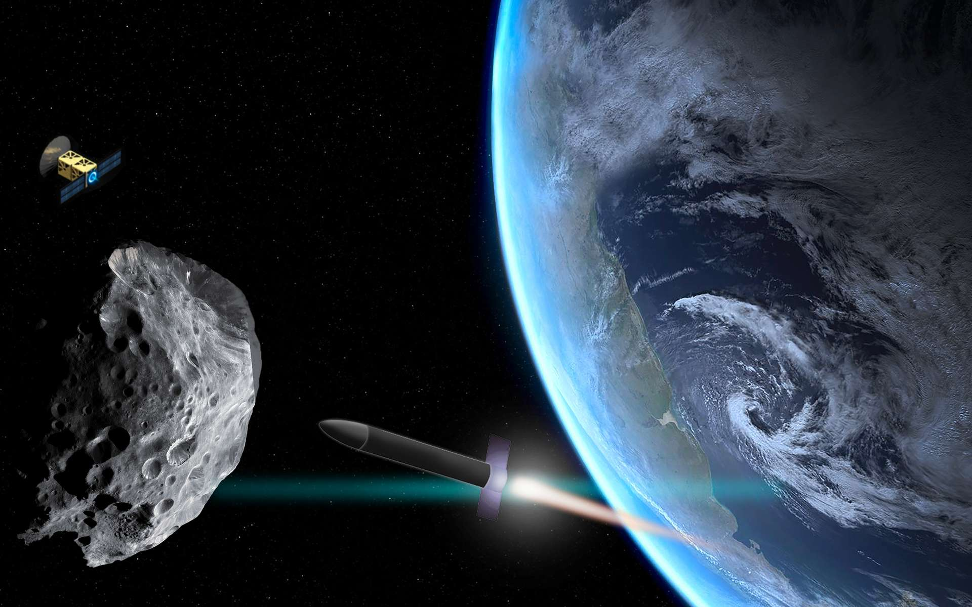 La déviation est la solution retenue pour protéger la Terre d'une collision avec un astéroïde. Bien qu'il existe d'autres solutions, celle-ci semble faire l'unanimité. © Christine Daniloff, MIT