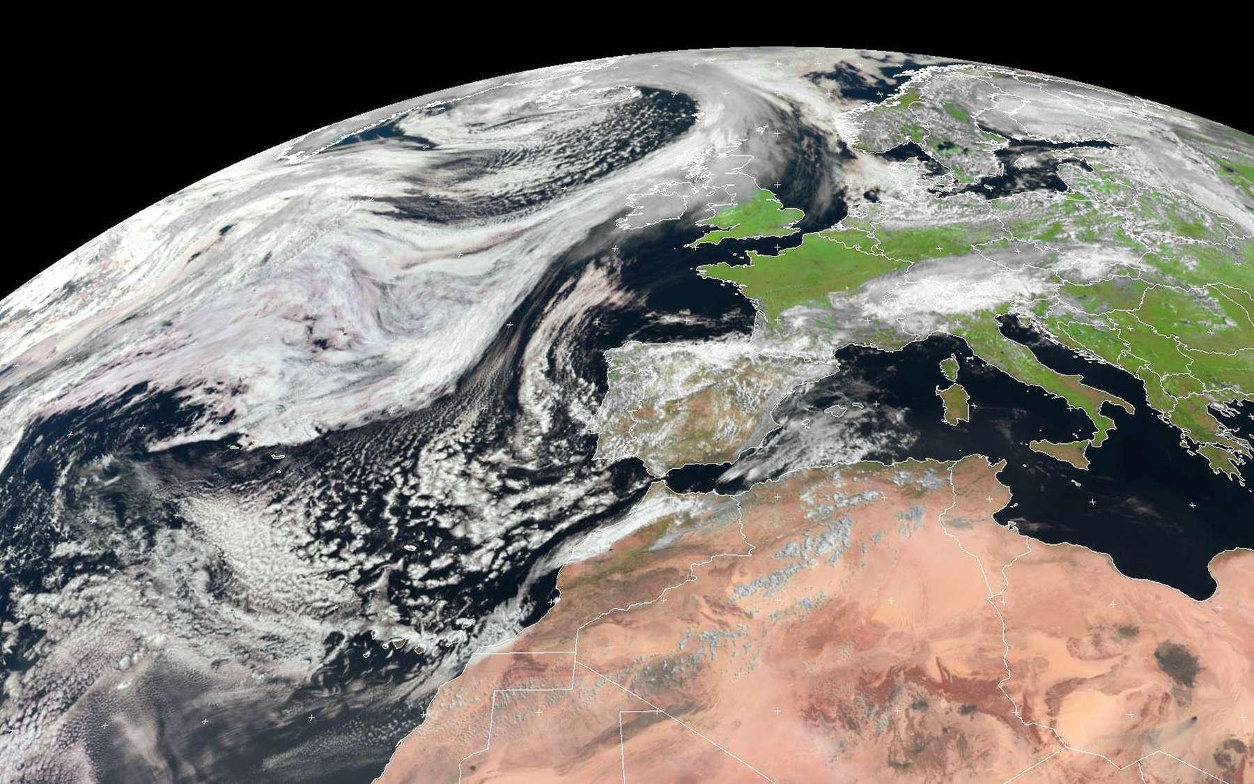 Quel climat fait-il sur Terre ? Le programme Copernicus devrait bientôt répondre à cette question grâce au service C3S. © Eumetsat (2014)