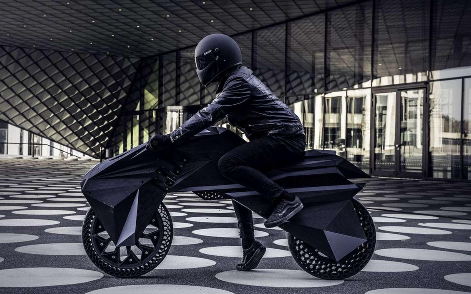 La moto Nera a été entièrement fabriquée par impression 3D à l'exception de son moteur électrique et de sa batterie. © BigRep