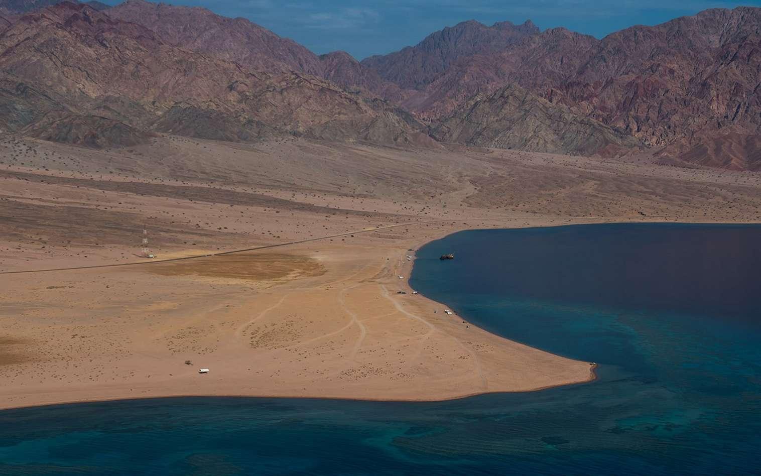 La mégapole Neom sortira de terre dans cette zone désertique du nord-ouest de l'Arabie saoudite. © Discover Neom