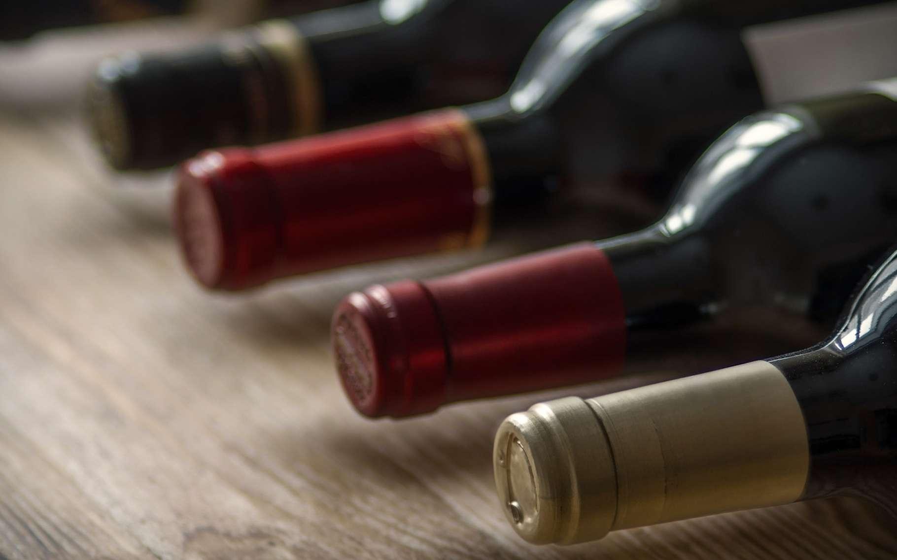 Les bouteilles de vin doivent être conservées couchées afin d'éviter l'oxydation du vin. © aleks-p, Fotolia