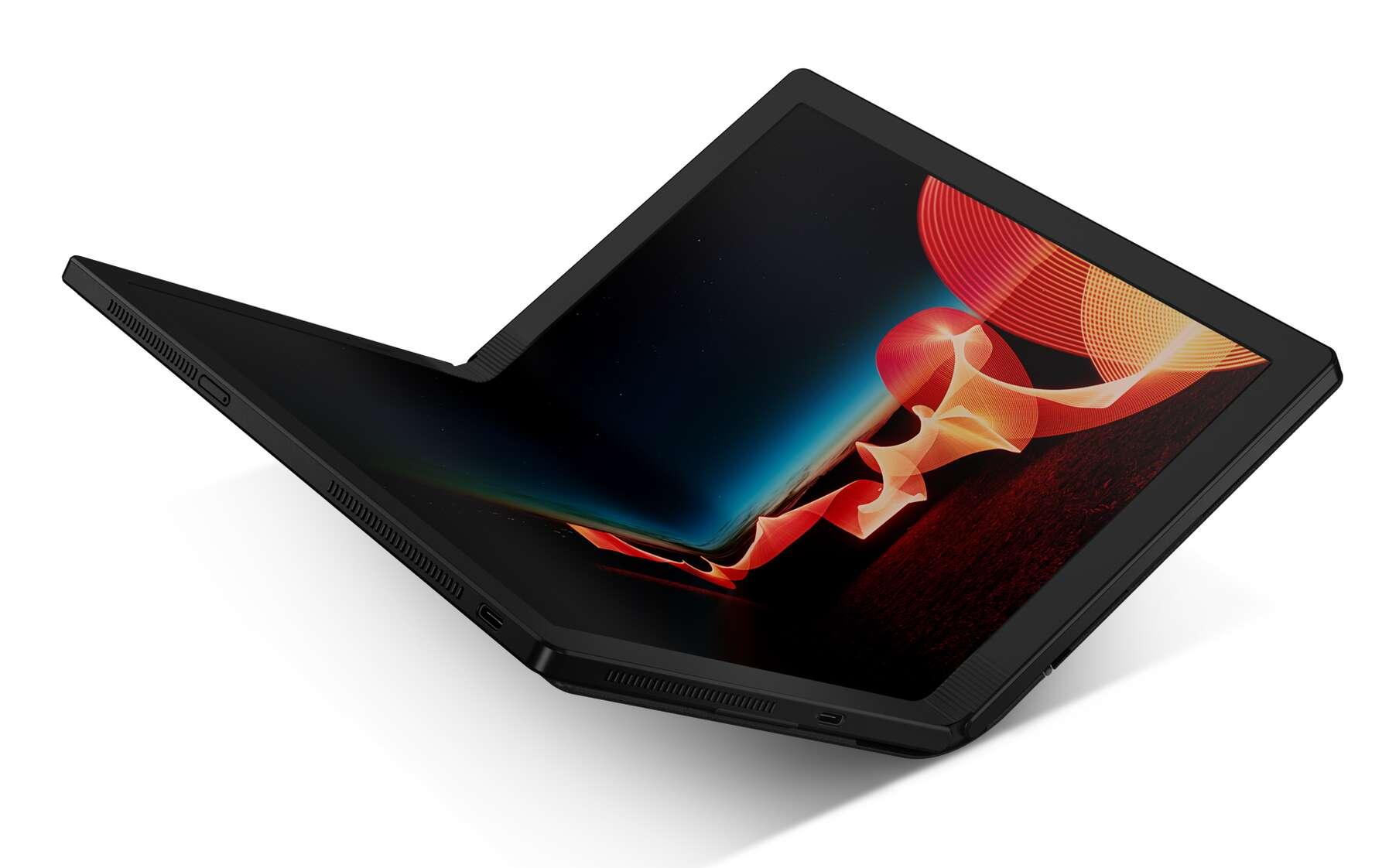 ThinkPad X1 Fold : le premier PC portable à écran pliable signé Lenovo. © Lenovo