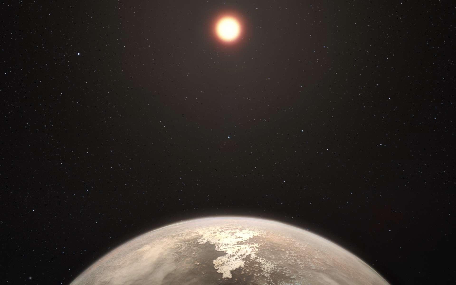 Illustration de Ross 128 b. Cette planète est la deuxième exoterre habitable la plus proche de notre Système solaire. © M. Kornmesser, ESO