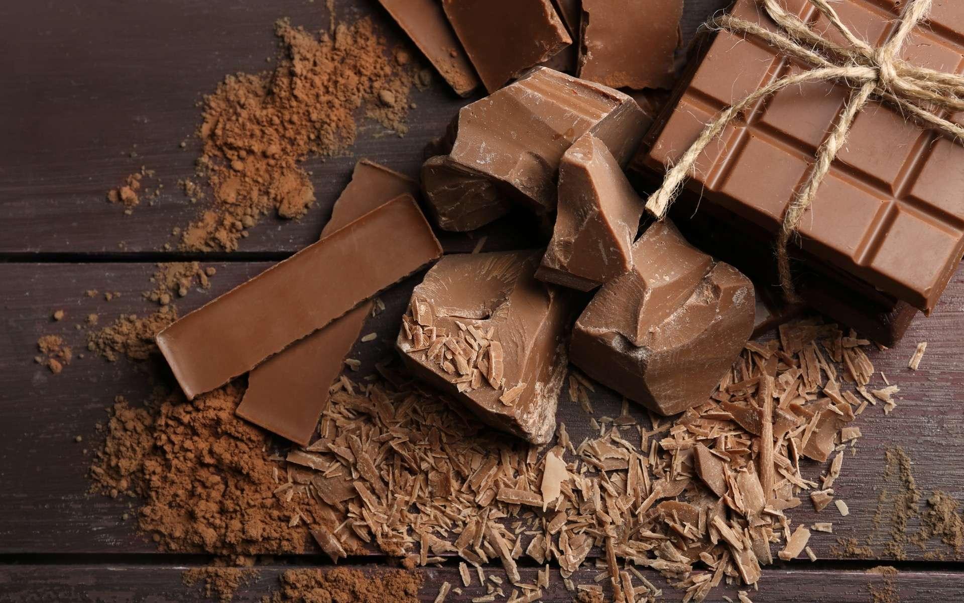 Des chercheurs ont imaginé un chocolat au lait plus riche en nutriments grâce aux déchets alimentaires et notamment ceux de l'arachide. © Africa Studio, Adobe Stock