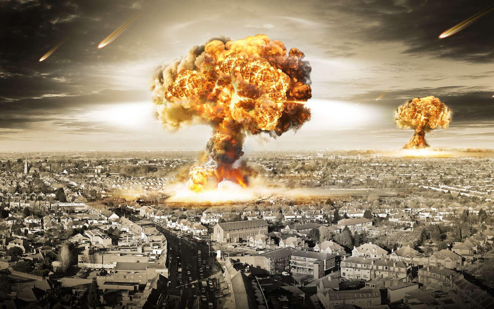 Lors d'une explosion nucléaire, on peut observer la formation d'une nuage en forme de « champignon atomique ». © Razvan Ionut Dragomirescu, Shutterstock
