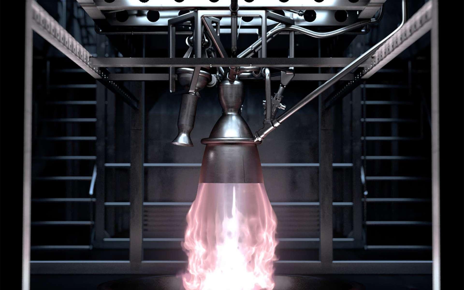Le démonstrateur Prometheus est le précurseur des futurs moteurs des lanceurs européens à l'horizon 2030. © Cnes, Blackbear