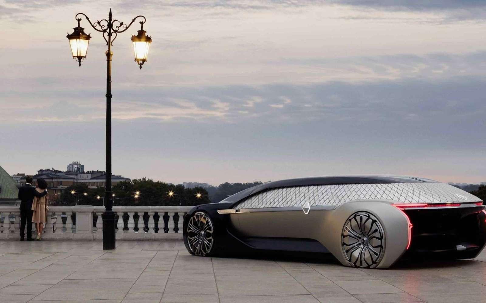 Renault présente plusieurs concepts sur le Paris Motor Show 2018. L'EZ-Ultimo est une voiture électrique totalement autonome. L'intérieur est consacré exclusivement à la détente. © Renault
