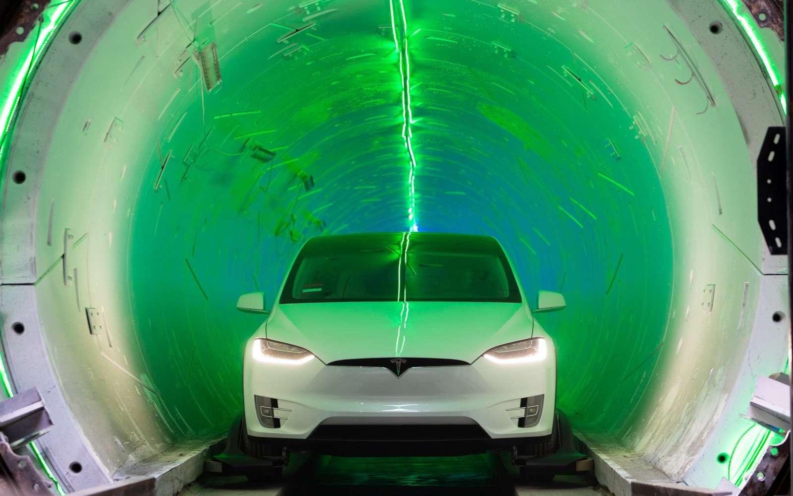Elon Musk a démontré l'efficacité de ses tunnels urbains. © The Boring Company