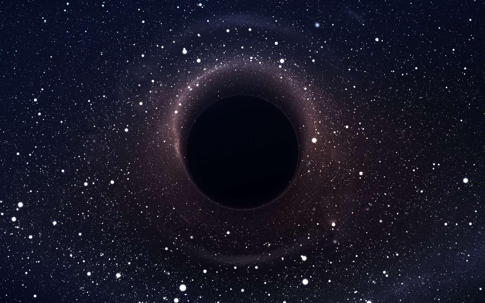 Au centre de la Voie lactée, il y a un objet massif que les astronomes appellent Sagittariaus A*. Ils pensaient qu'il s'agissait d'un trou noir supermassif. Mais une équipe du Centre international d'astrophysique relativiste (Italie) suggère aujourd'hui qu'il pourrait s'agir d'une masse de matière noire. © Vadimsadovski, Adobe Stock