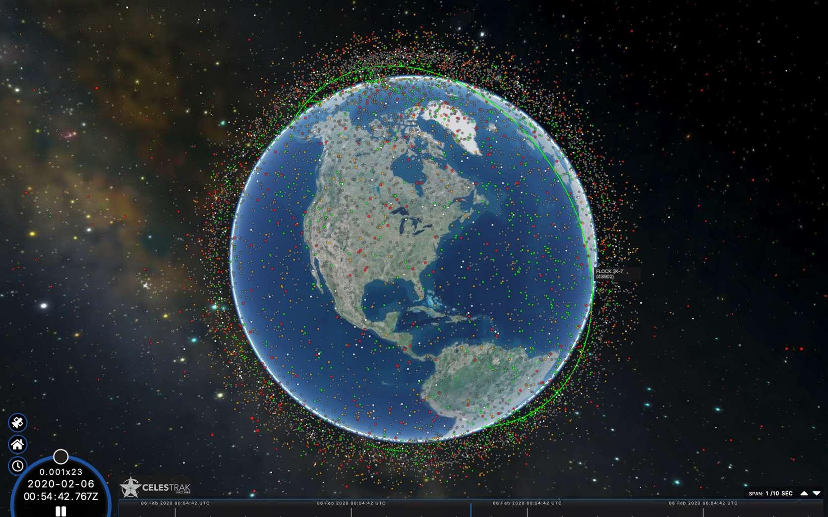 Les milliers de satellites qui gravitent autour de la Terre constituent-ils une manne pour notre patrimoine culturel ? © capture écran celestrak.com