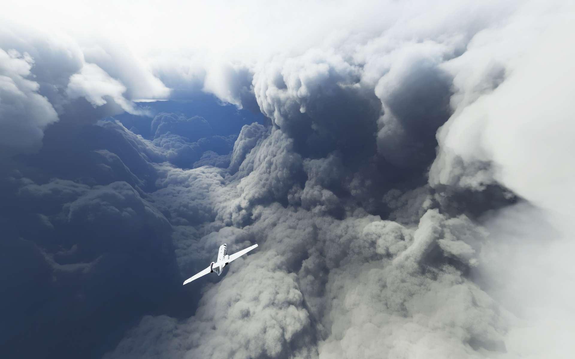 Des images époustouflantes et ultraréalistes obtenues par la modélisation des données météo en temps réel dans Flight Simulator 2020. © Petri Levälahti @Berduu, Twitter