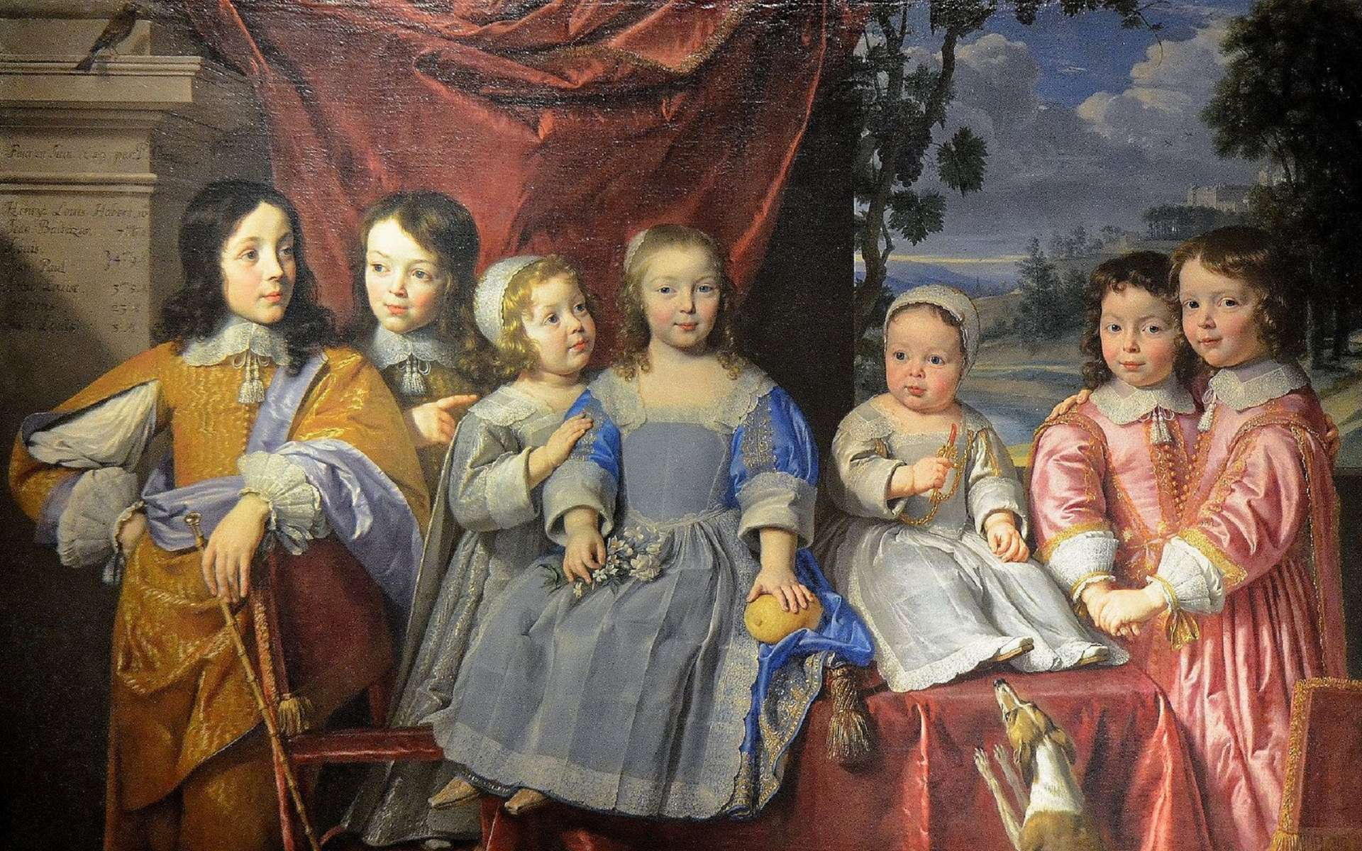 Les enfants Habert de Montmort par Philippe de Champaigne en 1649. Musée des Beaux Arts de Reims. © Wikimedia Commons, domaine public