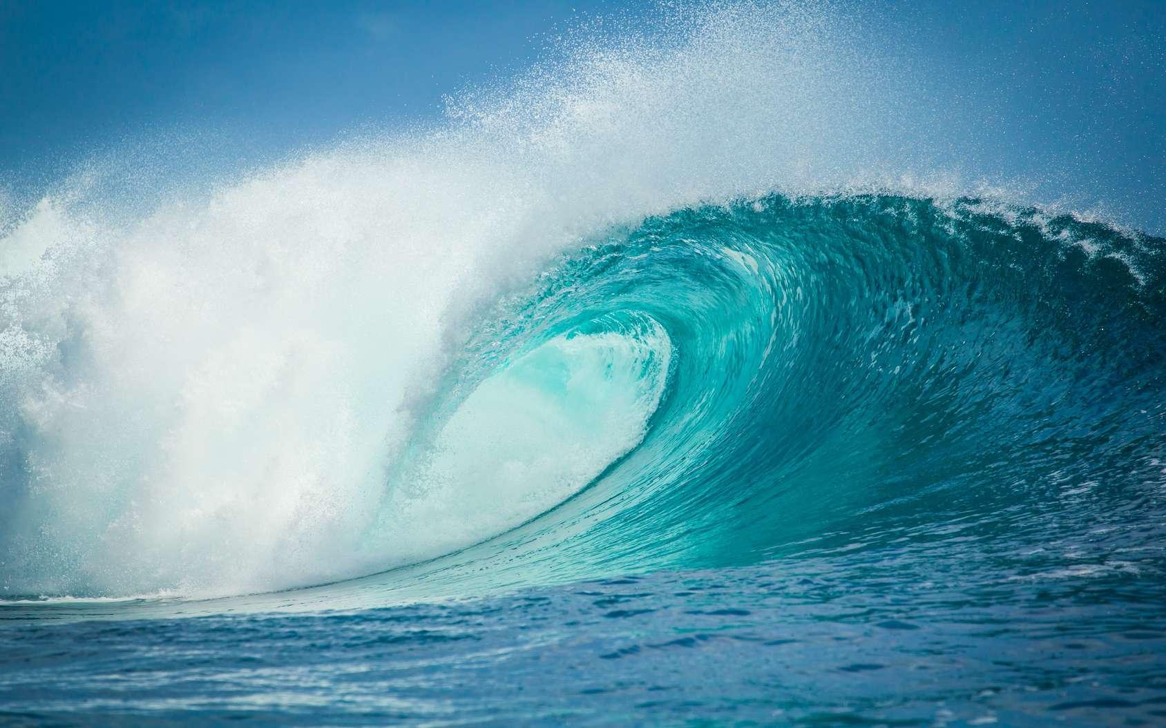 Une vague est une onde mécanique qui se propage à la surface de l'eau. © Tomfry, fotolia