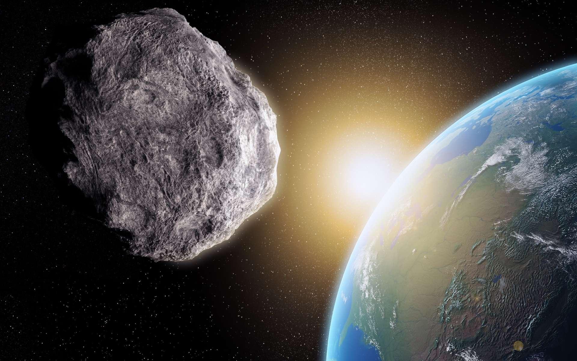 Illustration d'une météorite se dirigeant vers la Terre. © shutterstock Mopic