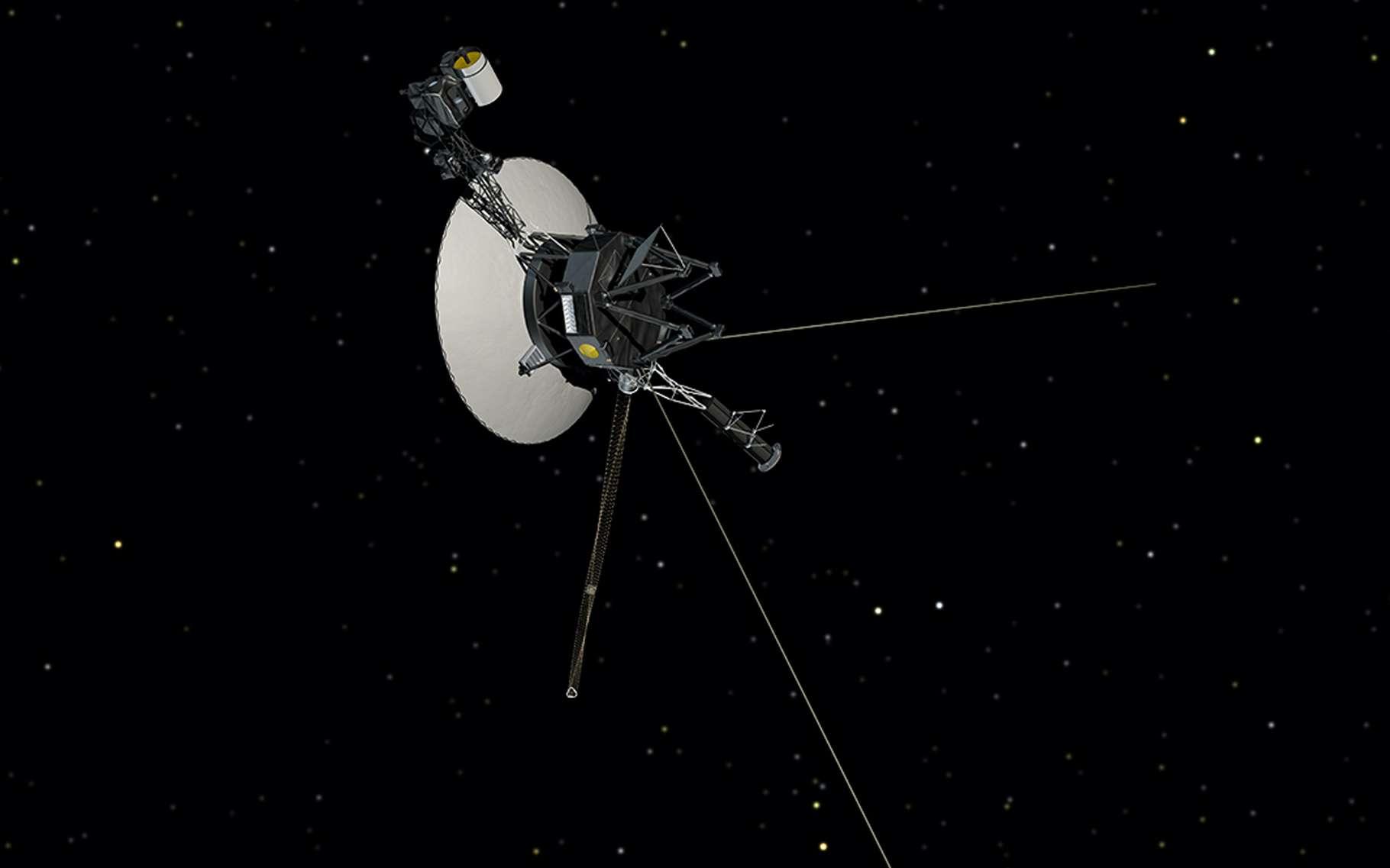 Une vue d'artiste de la sonde Voyager 2 qui fournit actuellement de précieuses informations sur l'espace interstellaire aux astronomes. © Nasa, JPL-Caltech